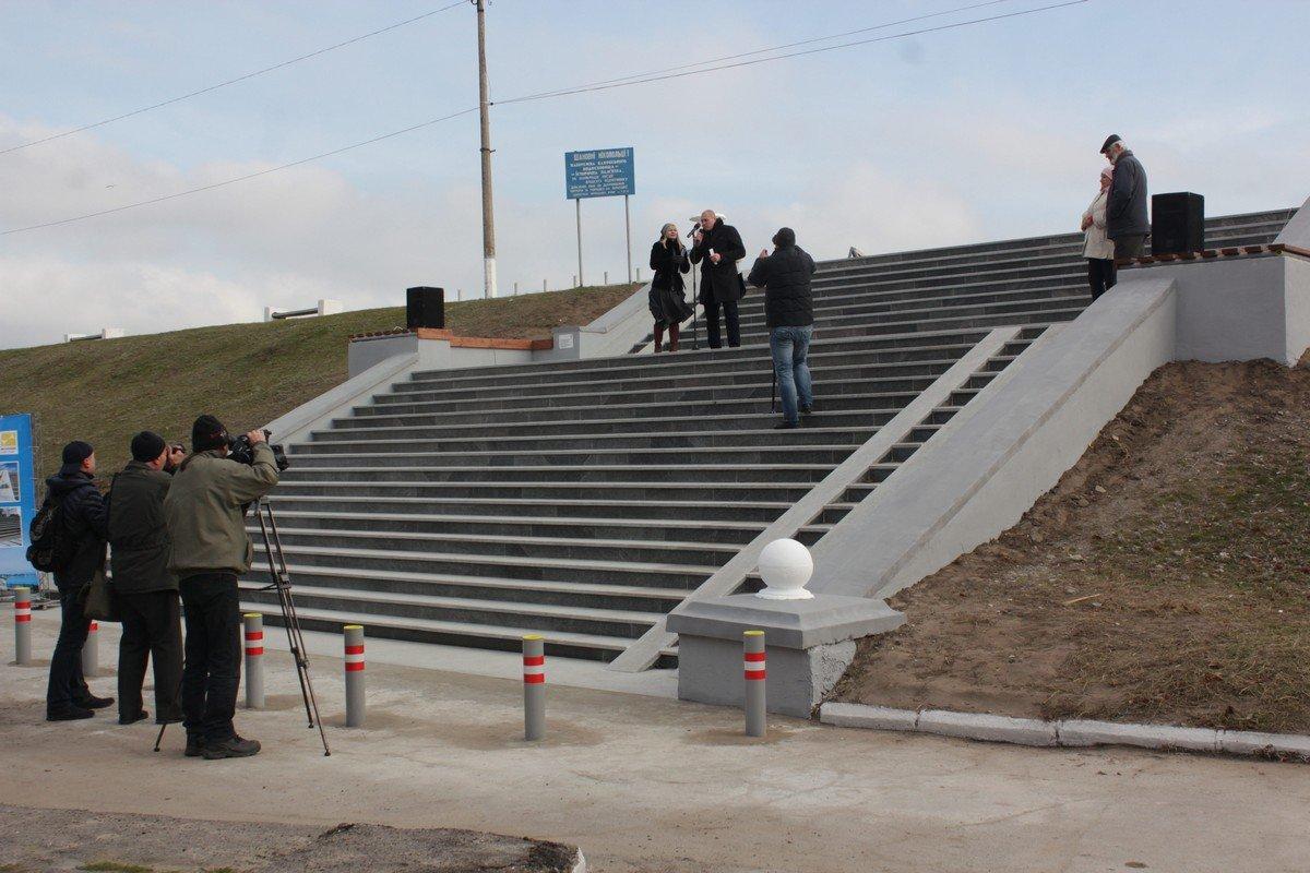 Обновленную лестницу торжественно открыли