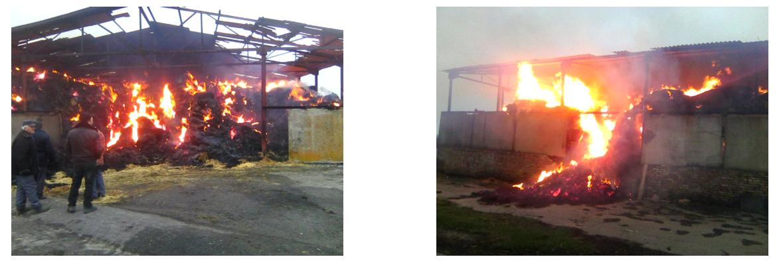 3:50в селе Чистополь Никопольского района горел навес с соломой