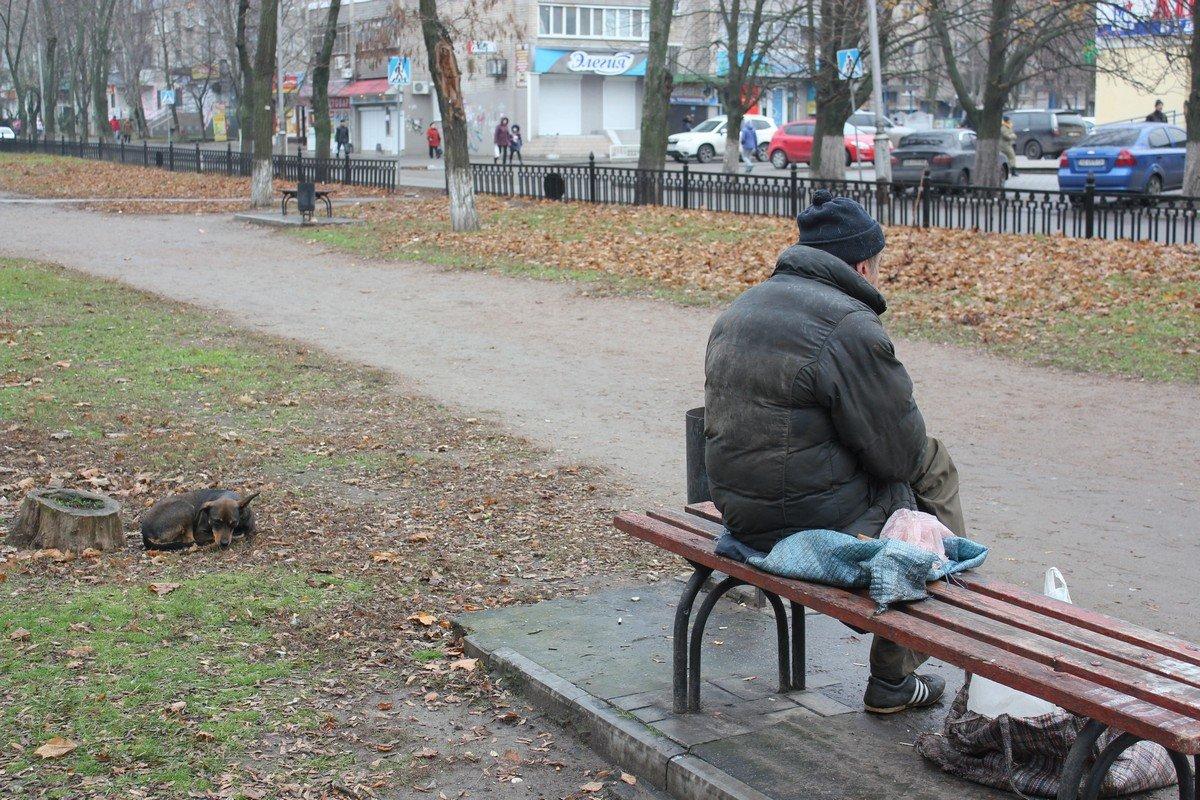 Разочарованный в любви Витя с верной собакой Наташкой, она не предаст