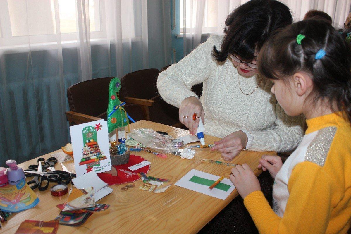 Работа над новогодней открыткой