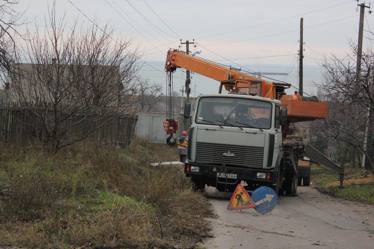 На улице Степана Разина работали энергетики