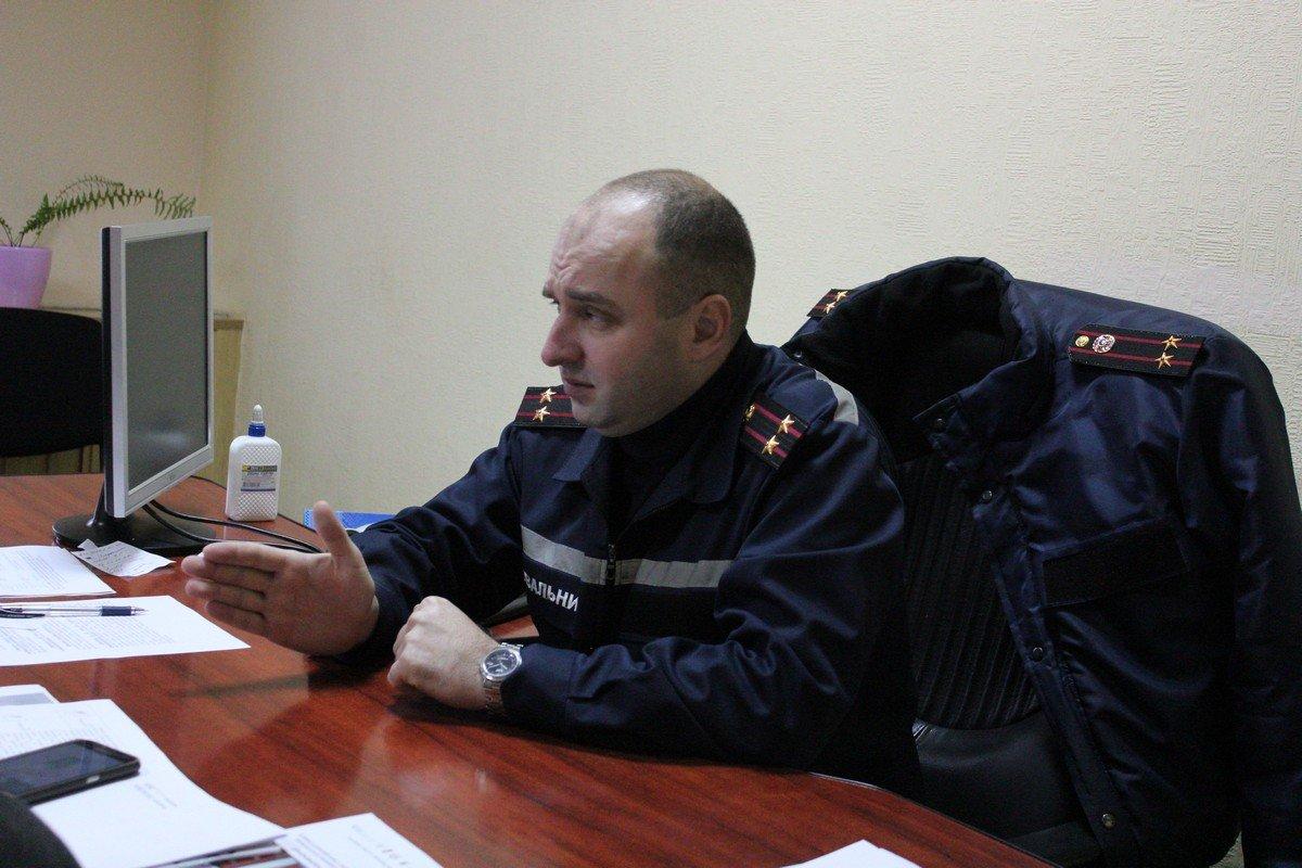 Начальник никопольского горрайонного отделения главного управления ГСЧС Украины Константин Сегедий