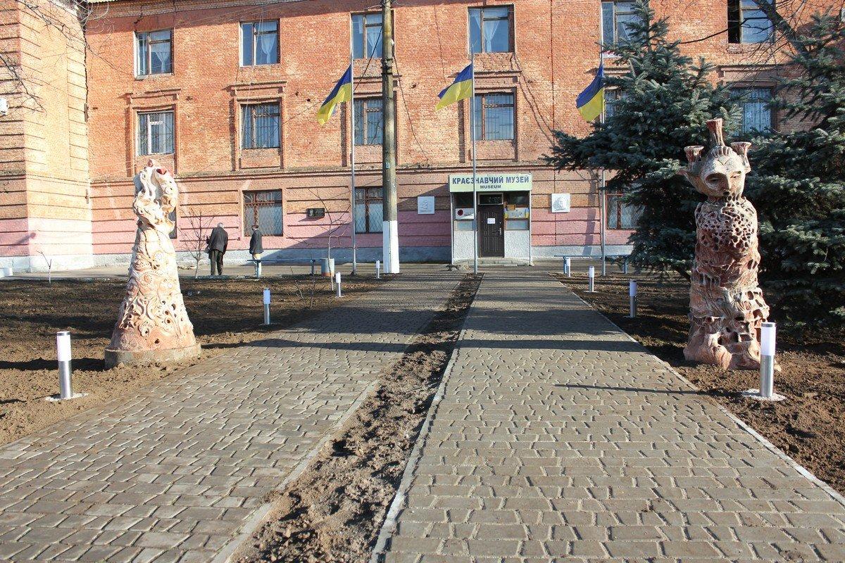 Аллея перед входом в музей