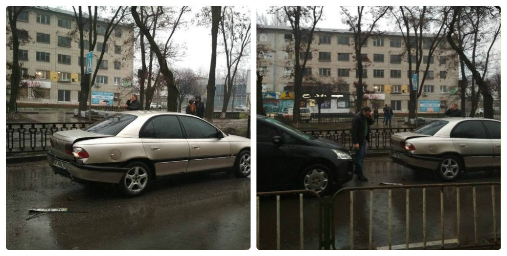 На проспекте Трубников столкнулись два автомобиля
