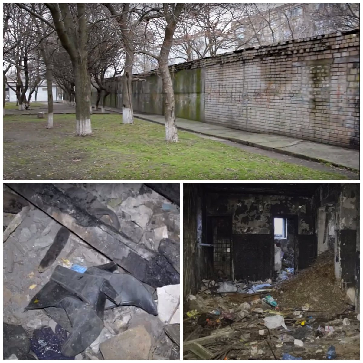 Здание старого тира около 10 школы превратилось в свалку