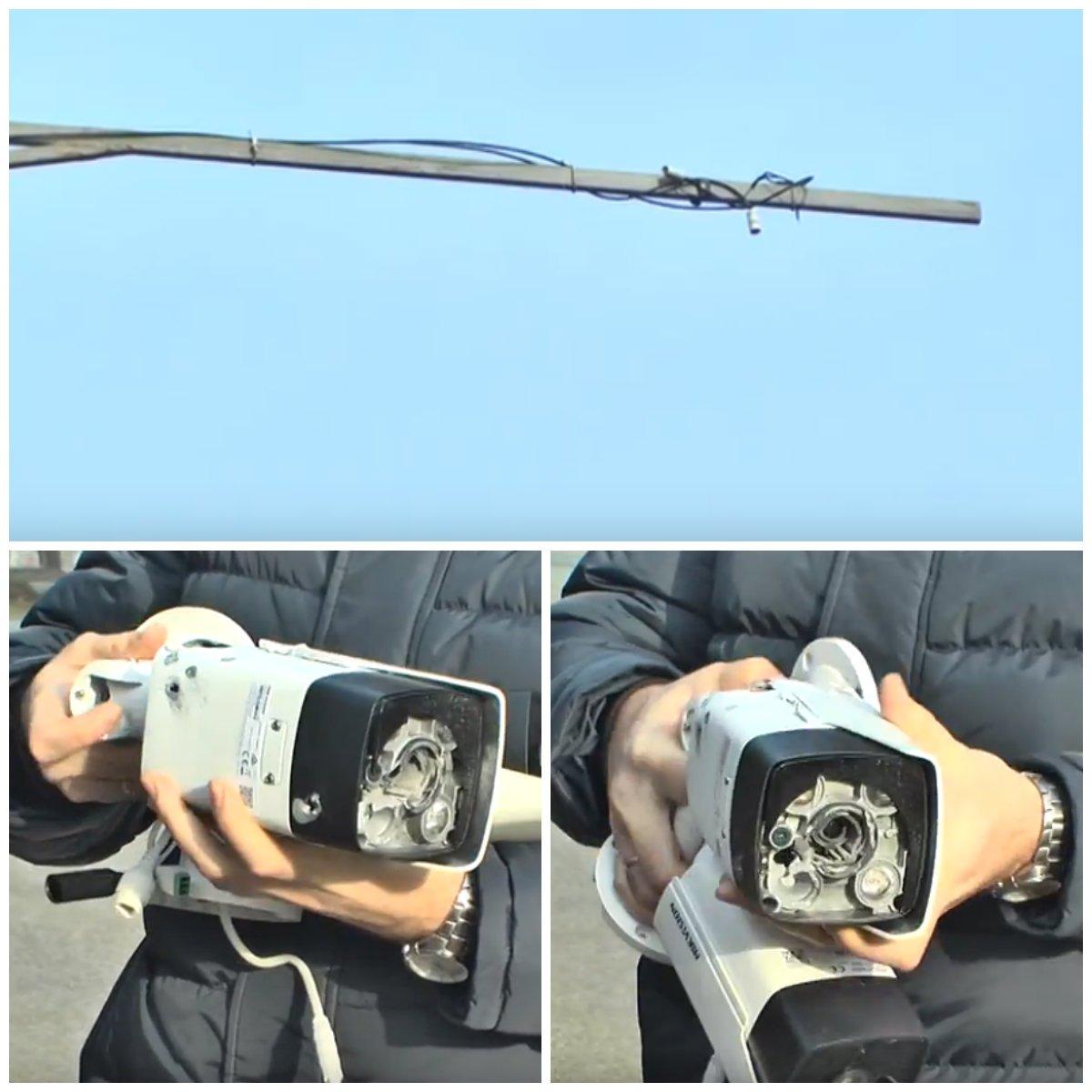 Стоимость поврежденных камер около 25000 гривен