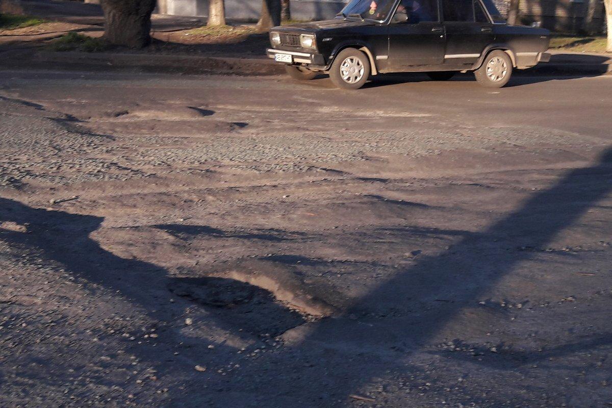 Состояние дороги после завершения ремонта