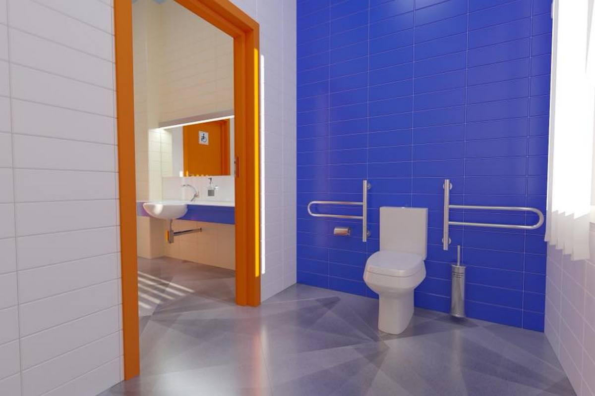 Оборудованный туалет