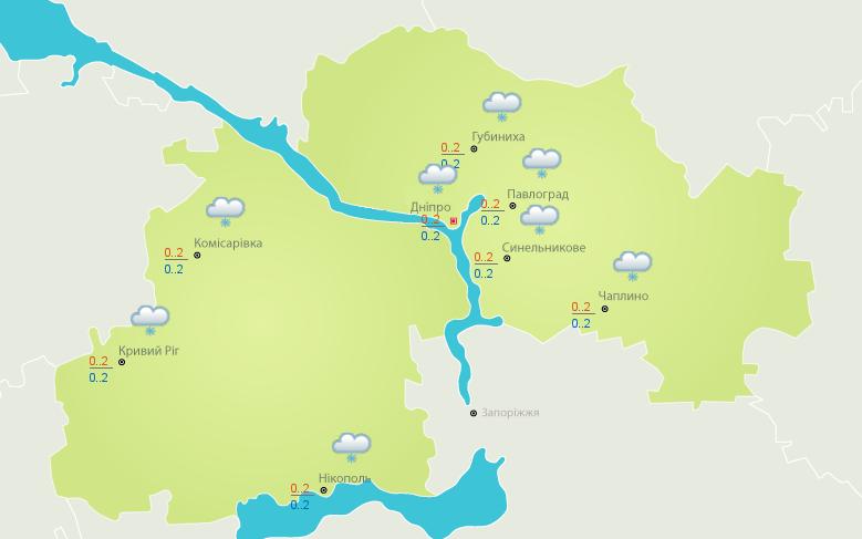 Погода на 31 января: в Никополе будет облачно