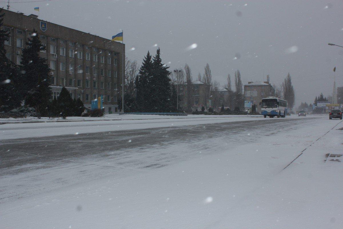 Никополь дождался настоящей зимы