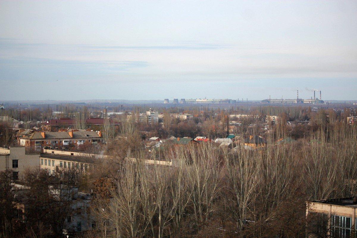 Вид на Никополь с 13-этажа