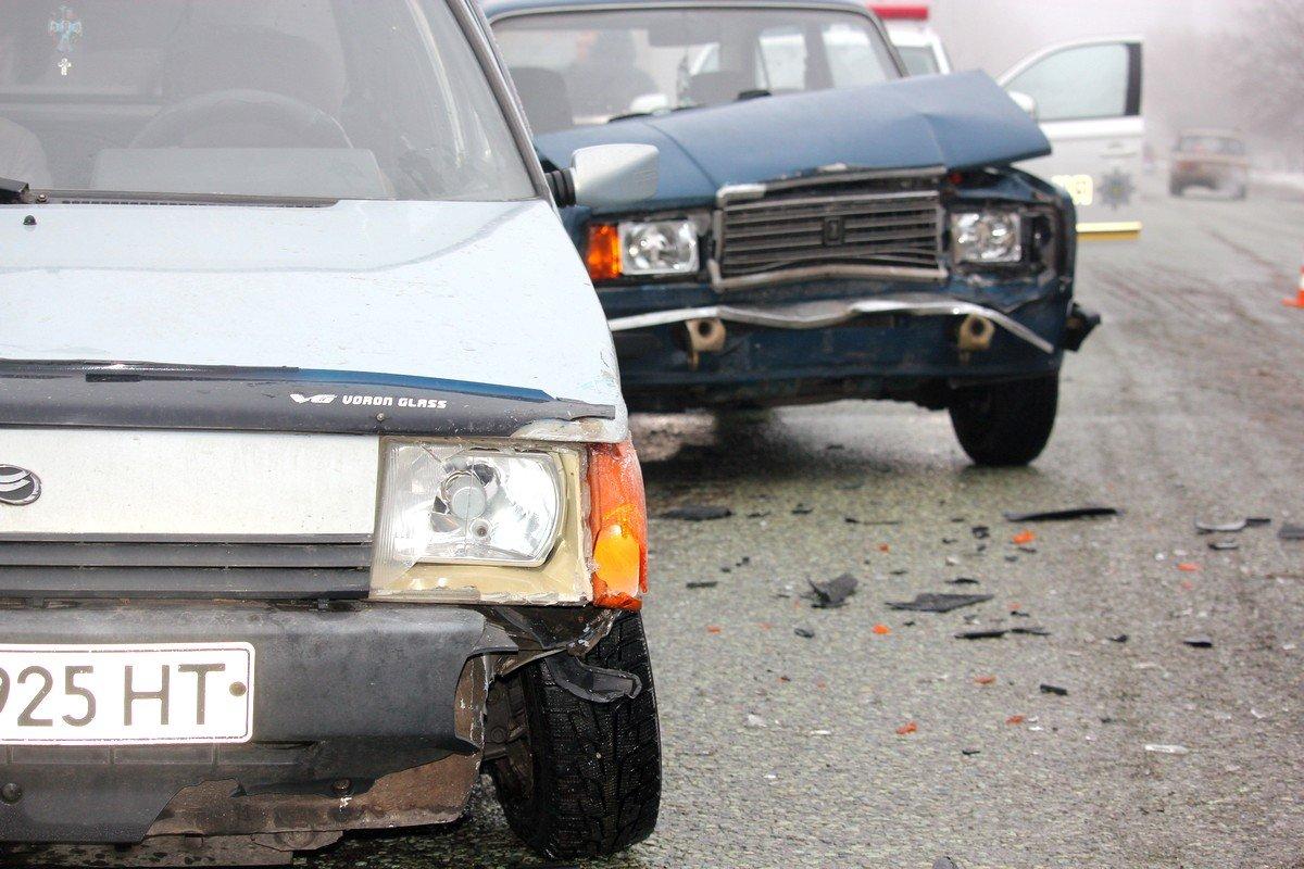 Повреждения в результате аварии