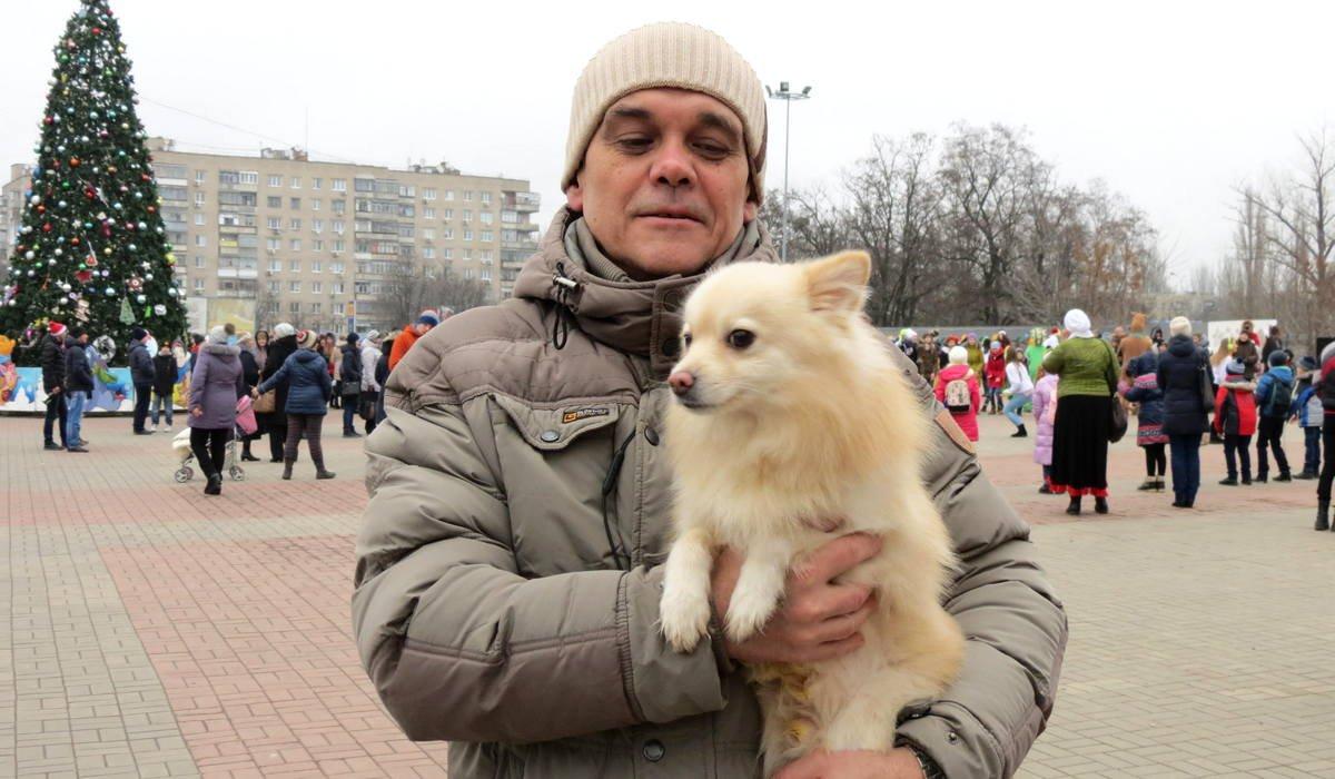 Собака Миша и его хозяин