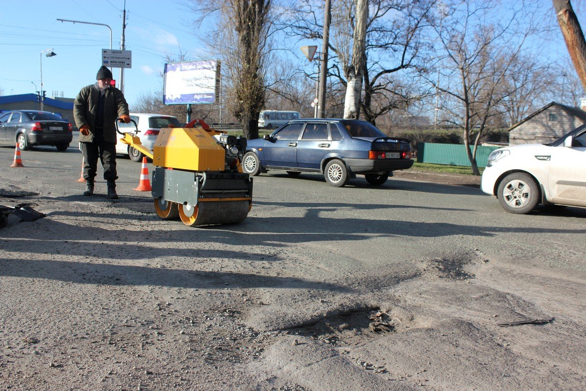 Частичный ремонт дороги