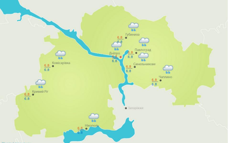 Погода на 4 февраля: в Никополе пойдет сильный дождь