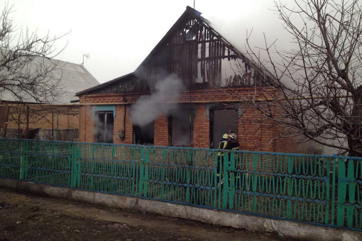 В Никополе во время пожара погиб хозяин дома
