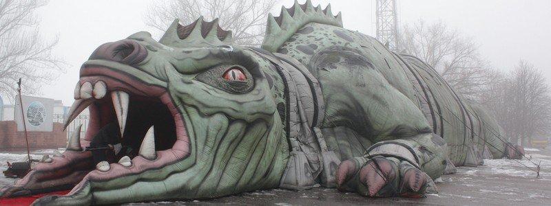 В Никополь привезли дракона из Лас-Вегаса