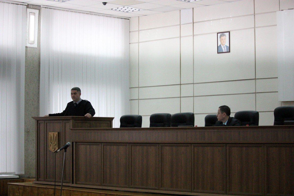 Заместителя начальника полиции Никополя Юрий Сидорук