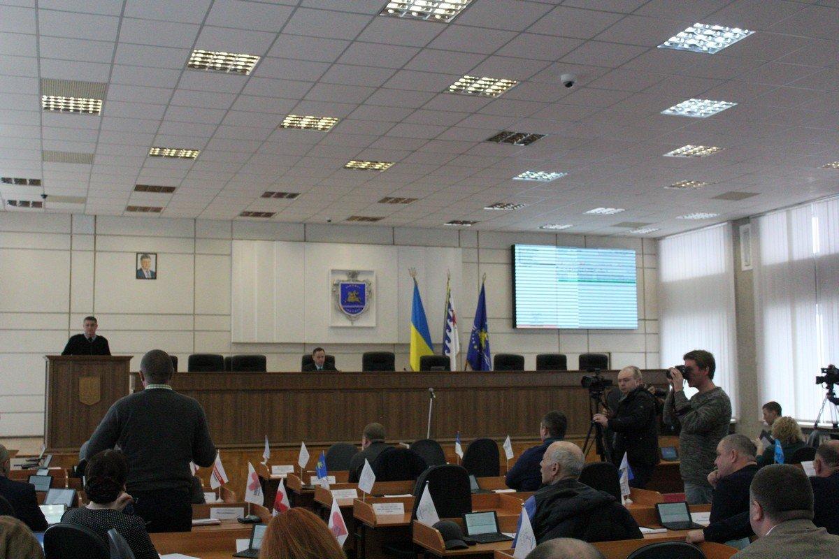 Внеочередная сессия горсовета в Никополе