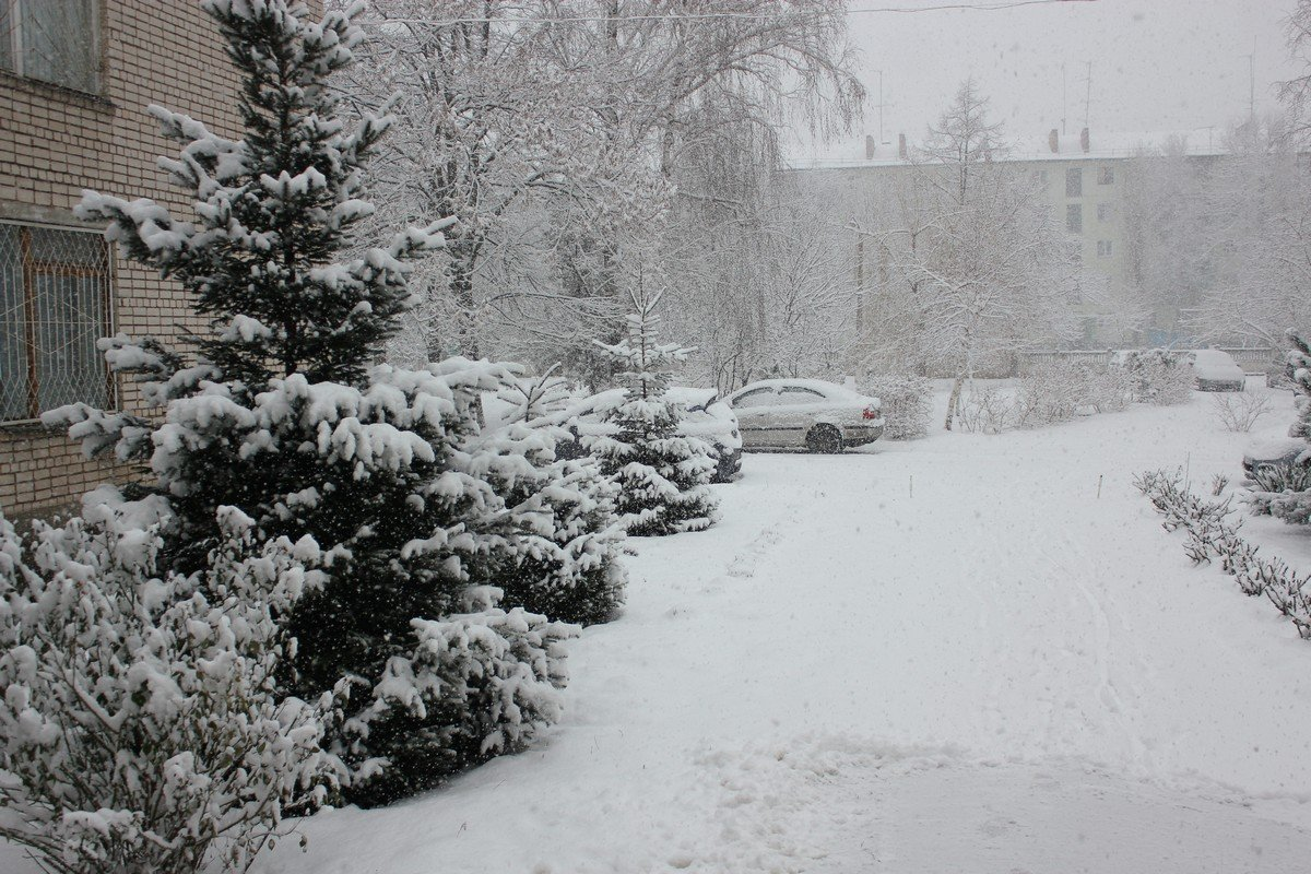 Никополь в снегу