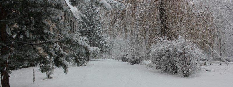 Никополь снова засыпало снегом