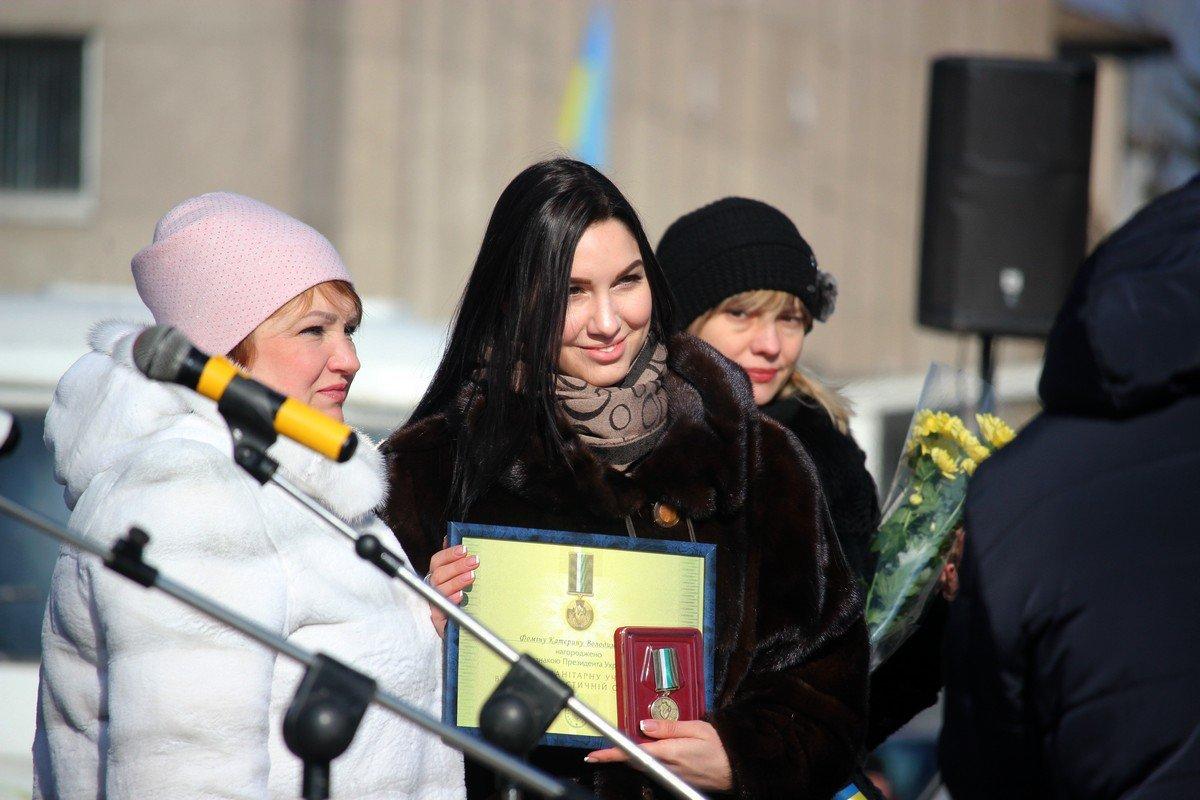"""Руководитель организации """"Прихист"""" Катя Фомина получила отличие Президента Украины «За гуманитарное участие в антитеррористической операции»"""