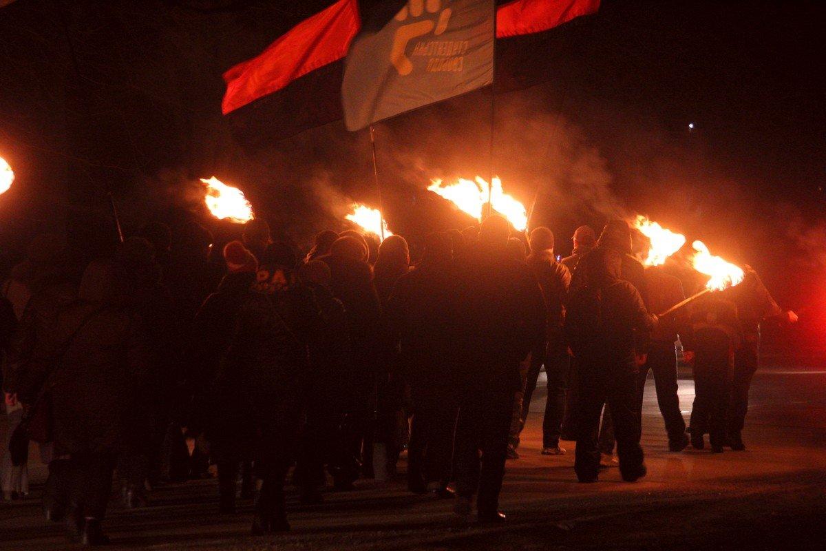 Марш активистов в Никополе
