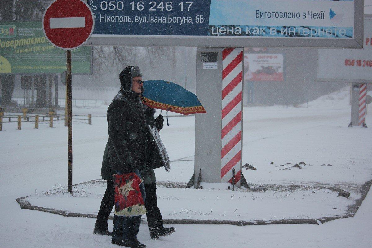 Зонтик, как средство защиты в метель
