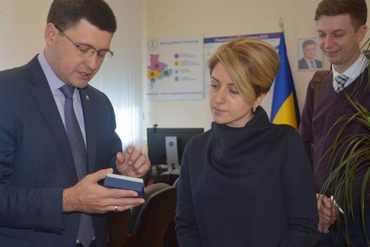 Встреча мэра Мариуполя с представителями ЕС