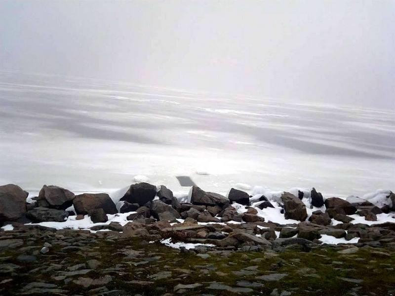 Толщина льда на дамбе всего 7 сантиметров