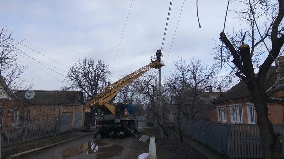 Технические работы ведутся энергетиками из Днепра