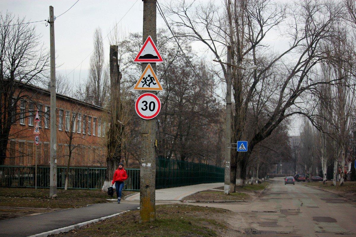 На дорожные знаки из городского бюджета выделили350 тысяч гривен