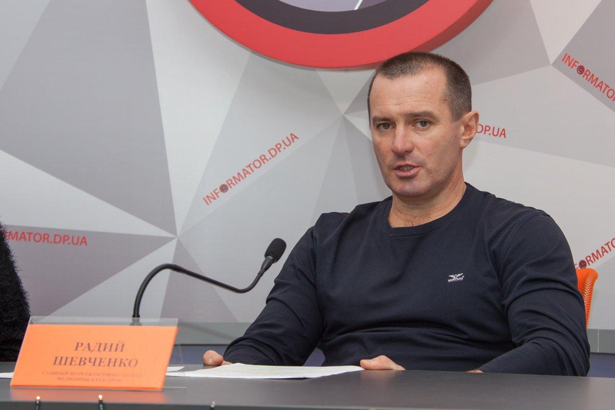 Директора областногоцентра экстренной медицины и медицины катастроф Радий Шевченко