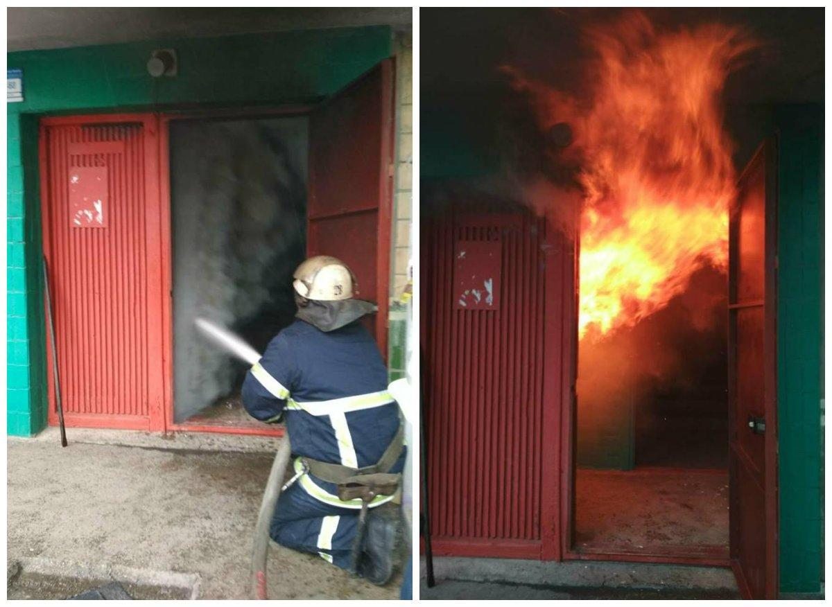 Пожар в подвале пятиэтажного дом на Электрометаллургов