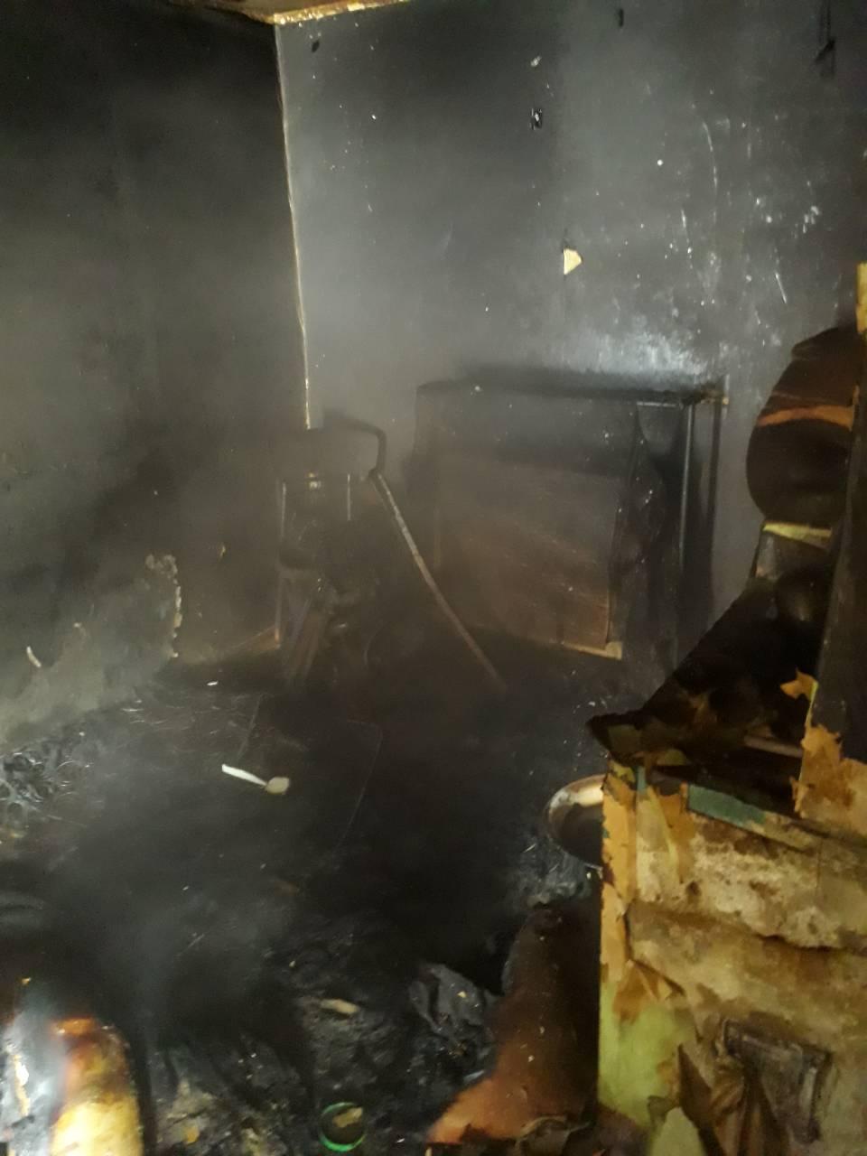 Огонь унес жизнь хозяйки дома