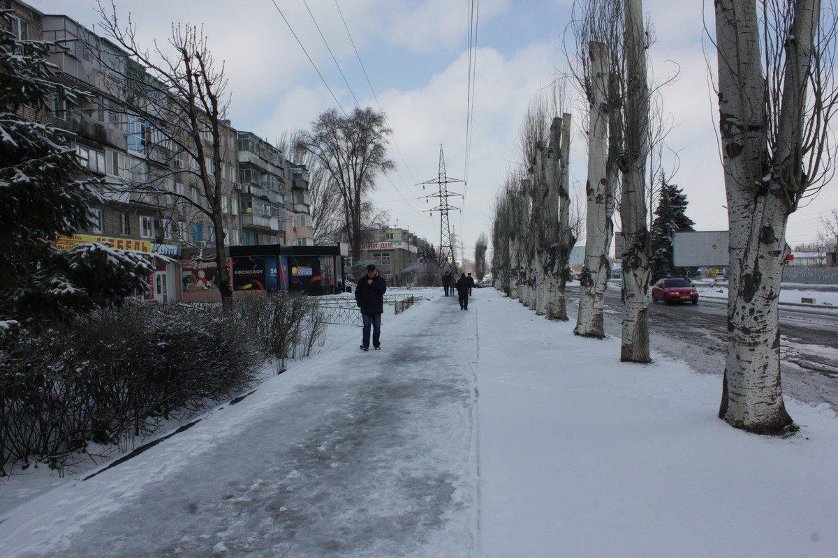 Тротуар в районе Восьмого квартала