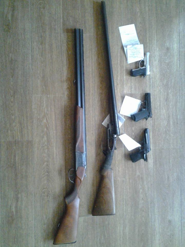 Горожане добровольно принесли в полицию 10 единиц огнестрельного оружия, 8 спецсредств и 36боеприпасов