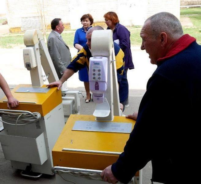 Гуманитарная помощь в медицинское учреждение приехала из Франции.