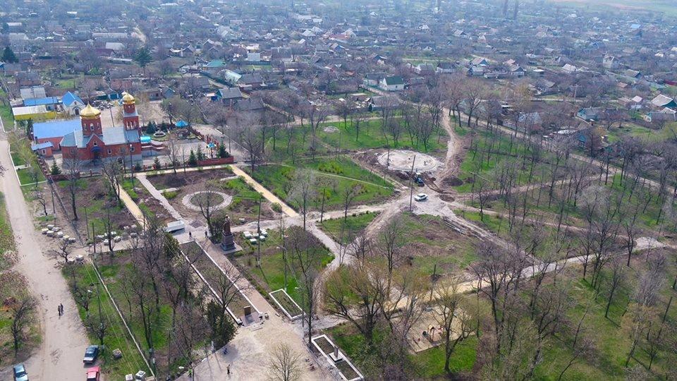 В Покрове реконструируют парк Горняков