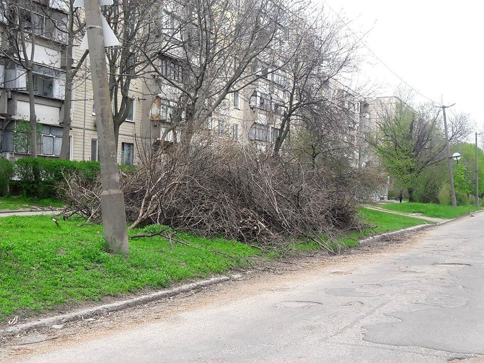 С помощью дробилки ветви утилизируют