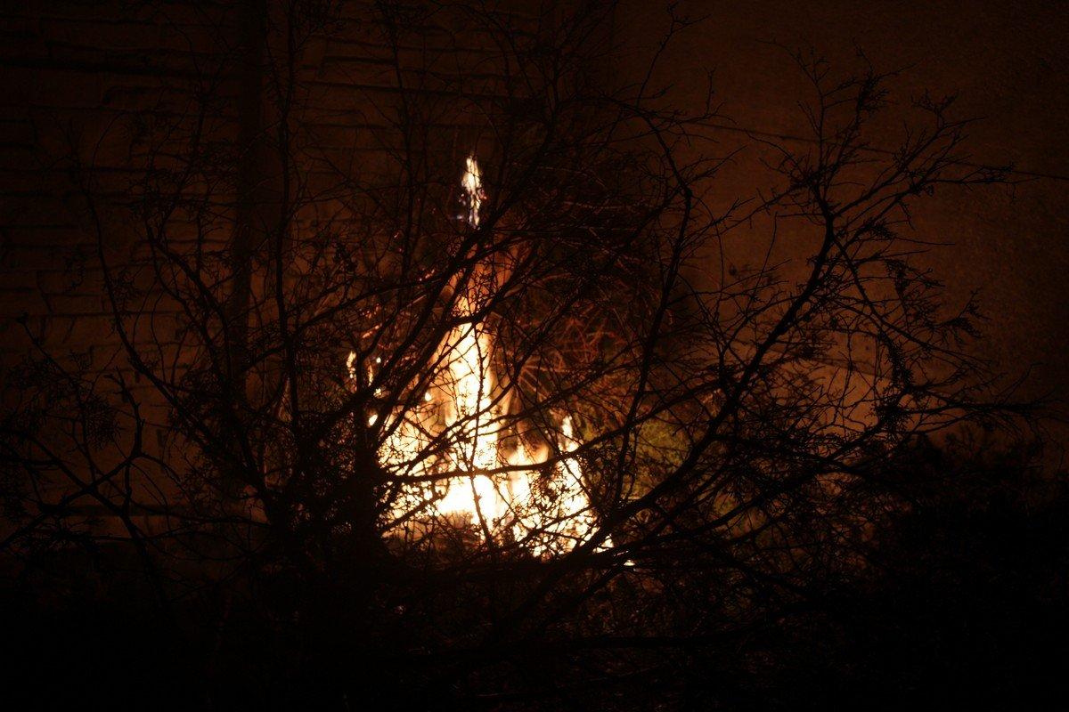 Тление мусора переросло в огонь