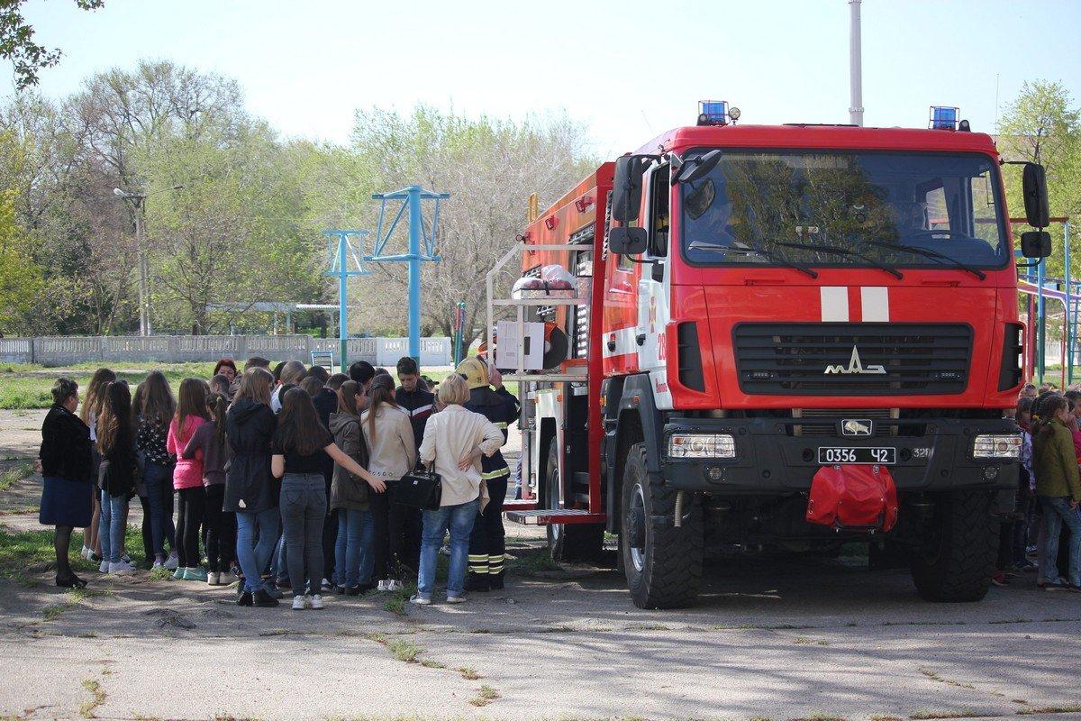 24 апреля в школе №8 побывали спасатели