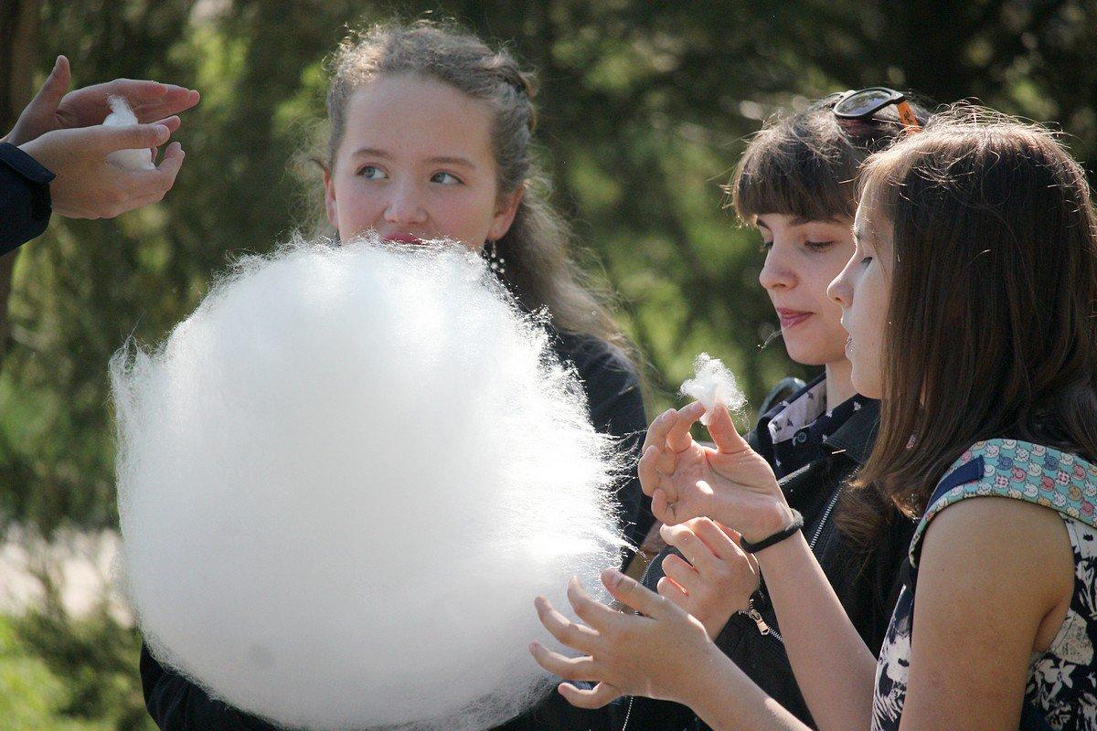 Облако из сладкой ваты