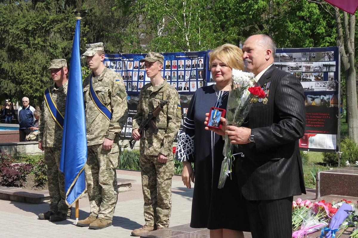 Юрий Чердаклиев во время получения награды