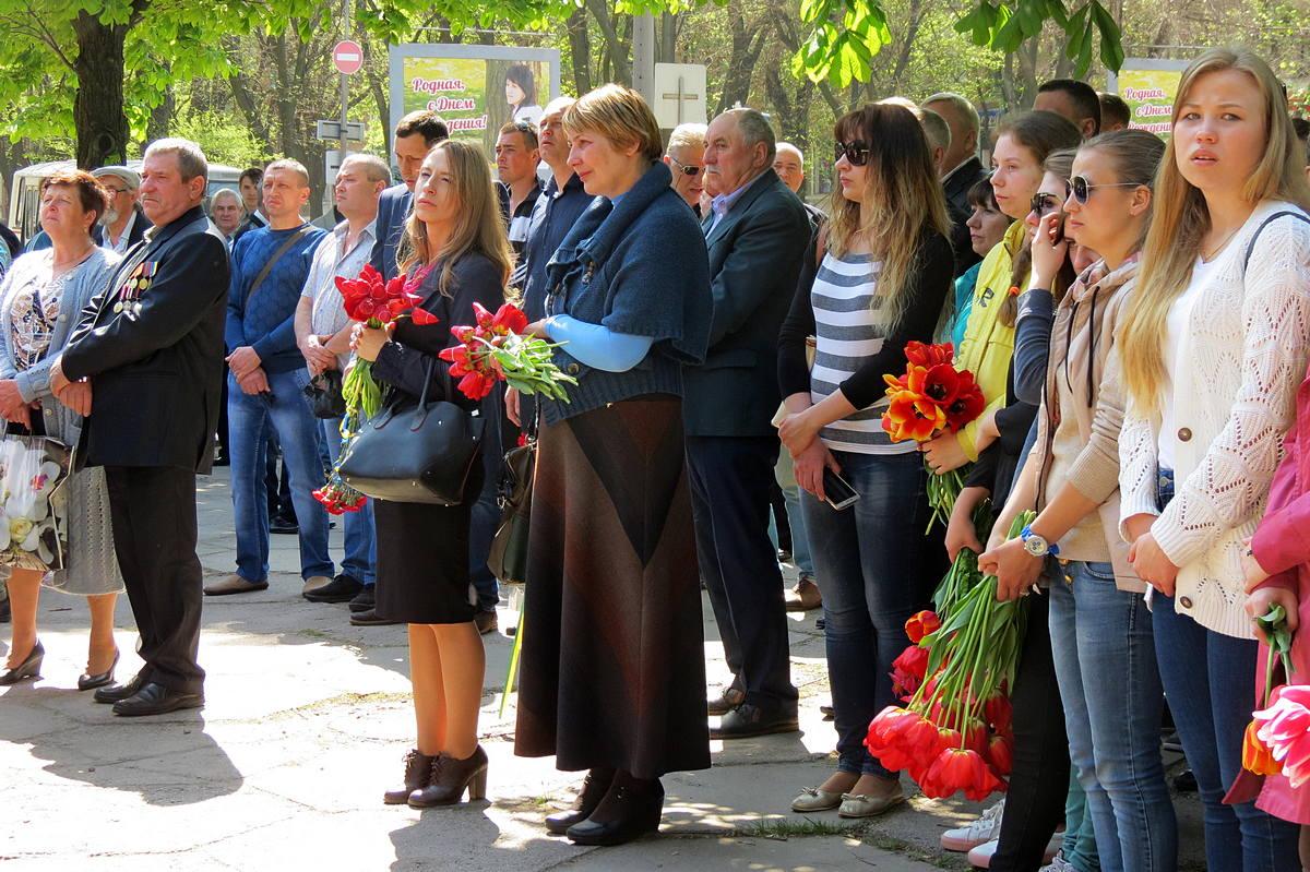 Жители пришли почтить память ликвидаторов