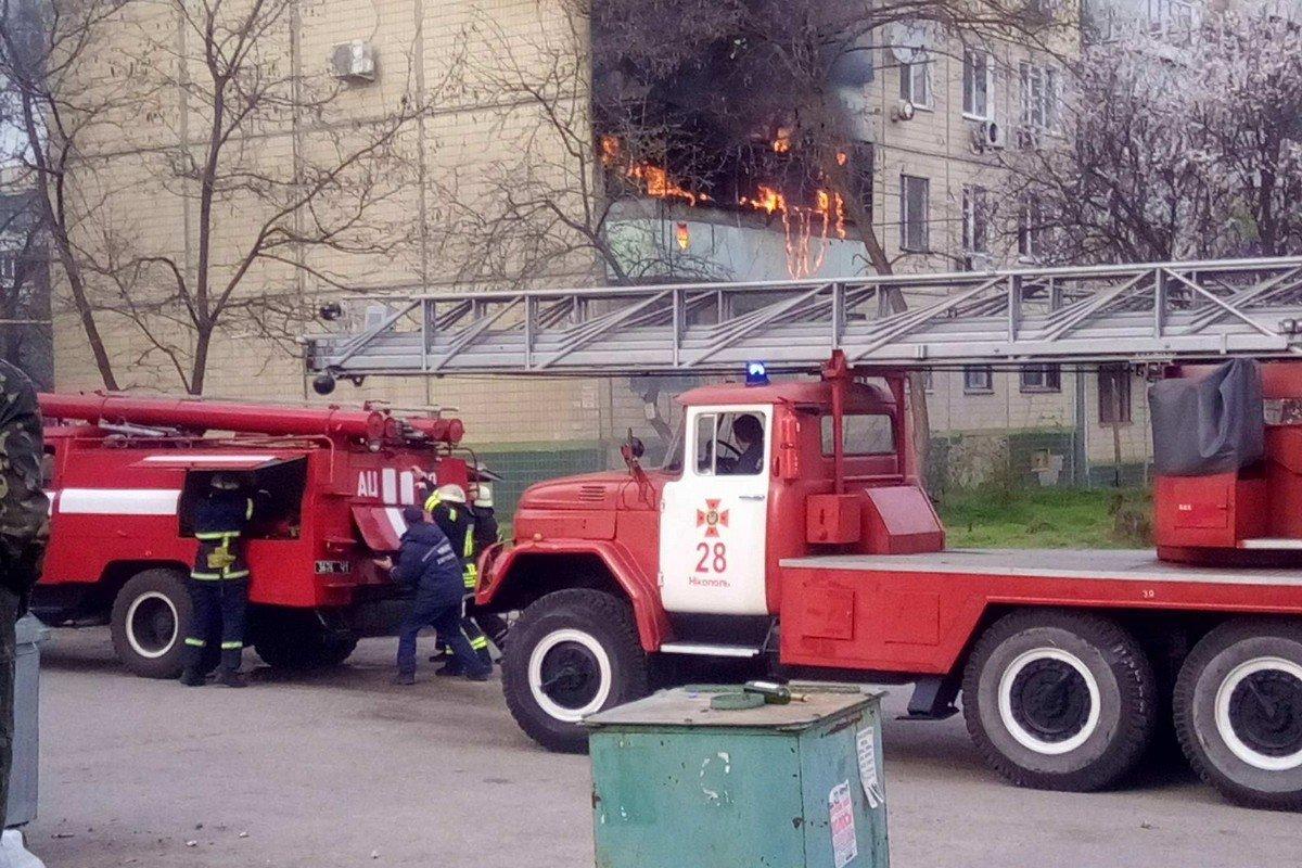 Пожар на улице Никитинская, 41