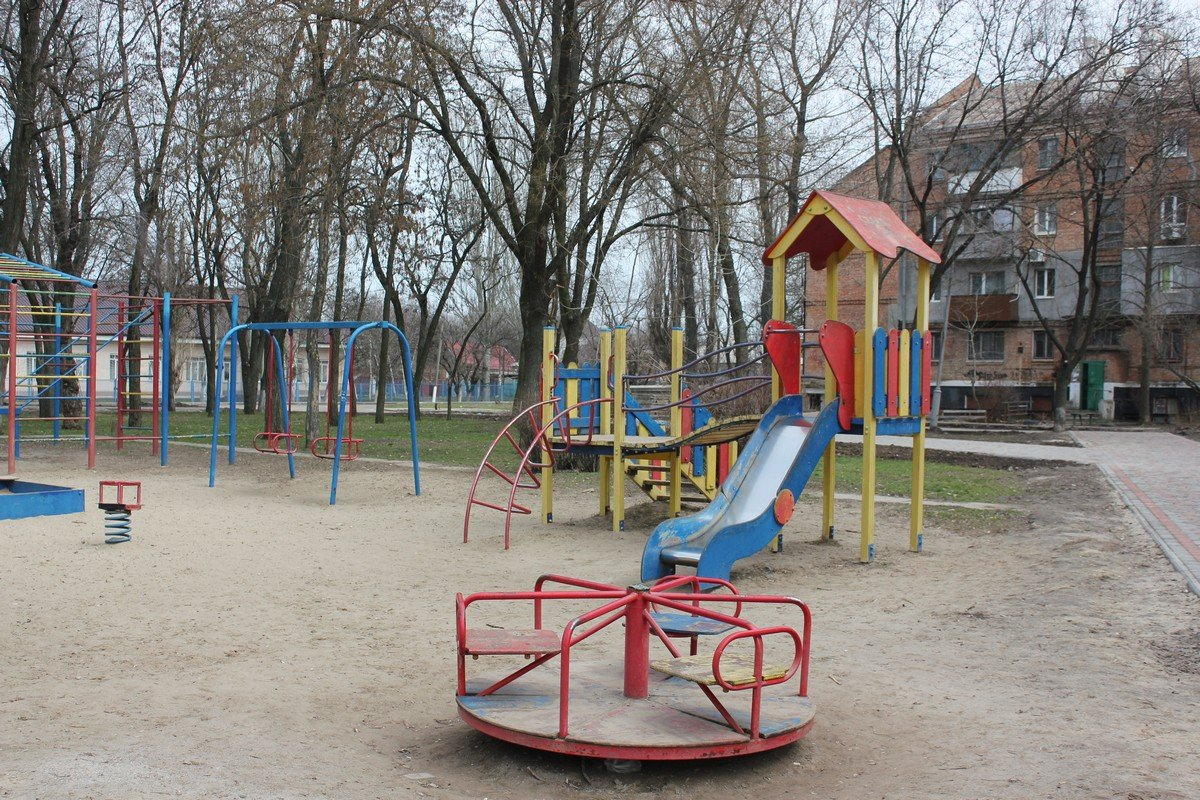Детская площадка на площади Независимости