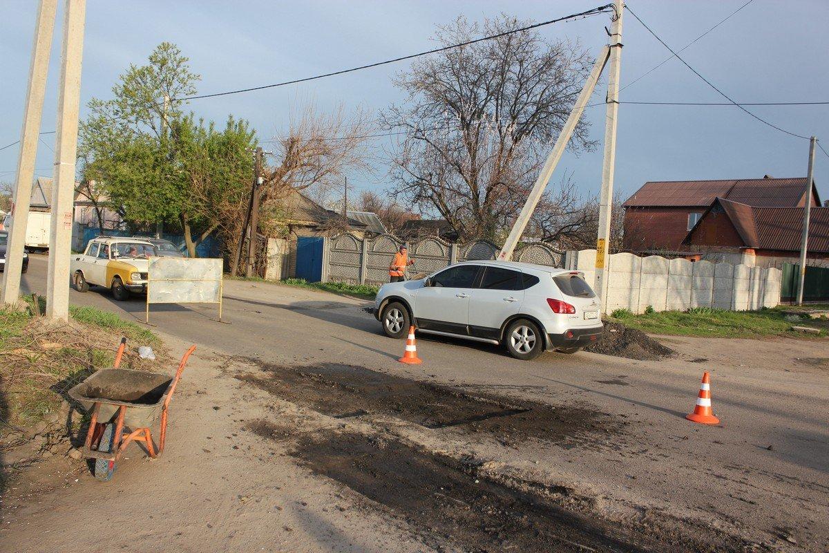 Ремонт дорожного покрытия на Некрасова
