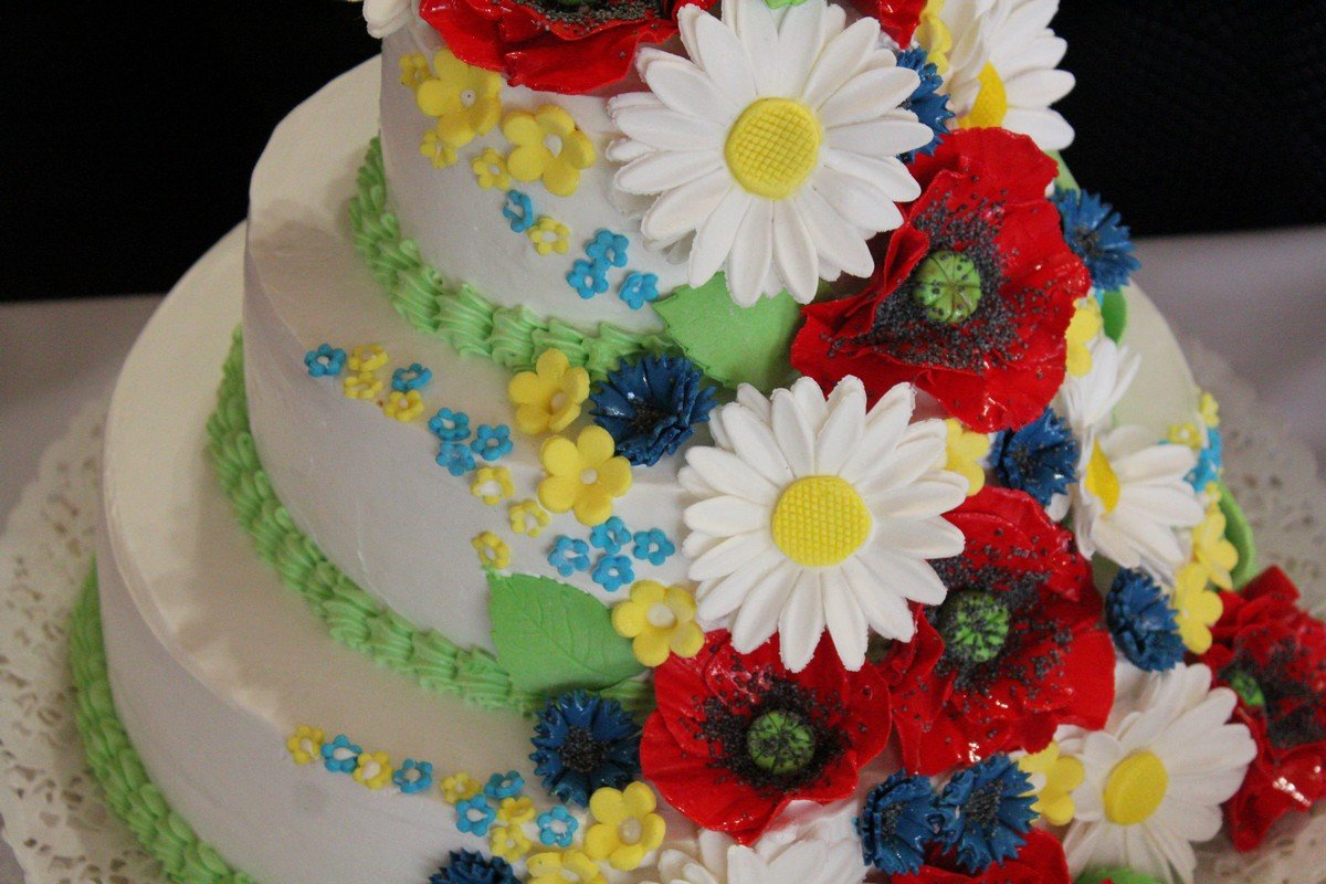 Торт с украинскими мотивами