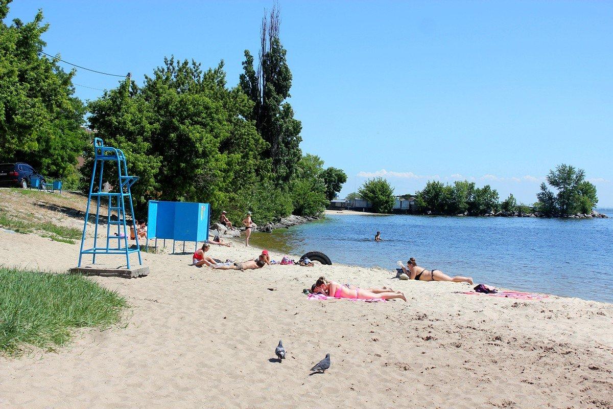Вид на детский пляж